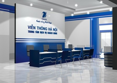 Backdrop lễ tân, Backdrop văn phòng, Biển logo công ty