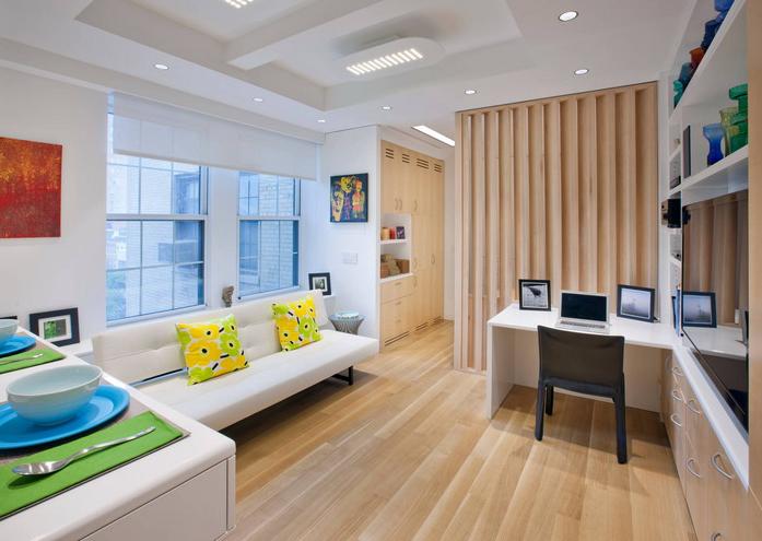 """Thiết kế phòng khách, phòng ăn, phòng làm việc """"3 trong 1""""."""