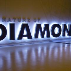 Chữ kim loại nổi 3D lắp đèn Led hắt sáng chân chữ