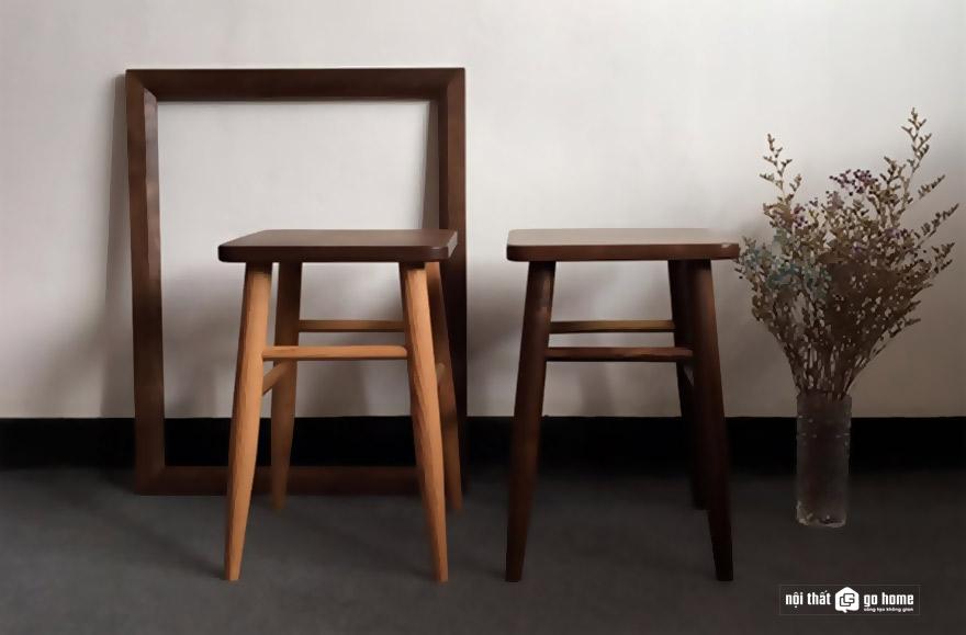 Mẫu ghế gỗ nguyên khối