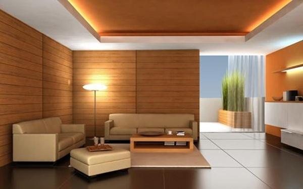 Thiết kế phòng khách với xốp PU vân gỗ vừa đẹp vừa chống nóng hiệu quả.